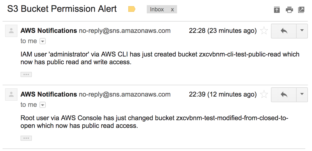 Get alerts when an S3 bucket is made public in your AWS account